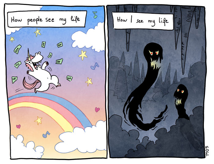 Illustrator Explains What His Depression And Anxiety Feels Like Through These Comics Psych2go